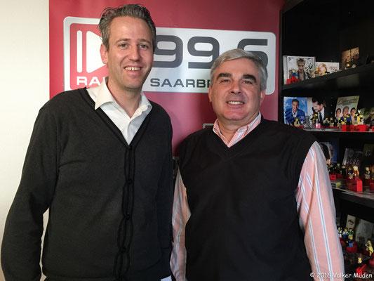 Blog, Radio Saarbrücken Volker Müden und Michael Haubrich im Studio
