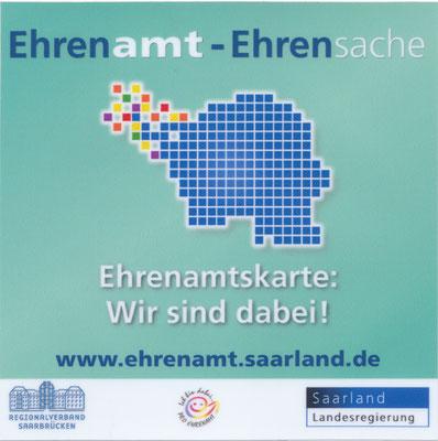 Ehrenamt, Türaufkleber Ehrenamtkarte