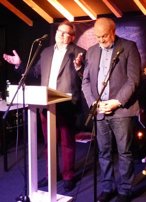Herbert Reichelt und Dieter Dresen leiten in die Preisverleihung ein