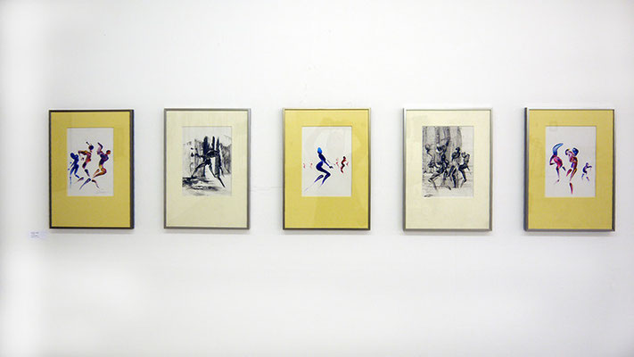 "RICK E. LOEF, ""TANZ"", Fingermalerei"