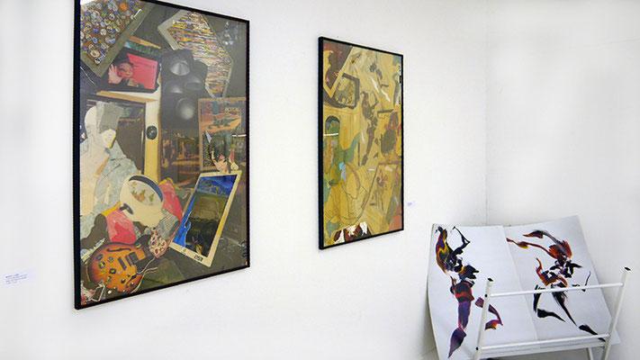 RICK E. LOEF, Collagen, Poster Fingermalerei