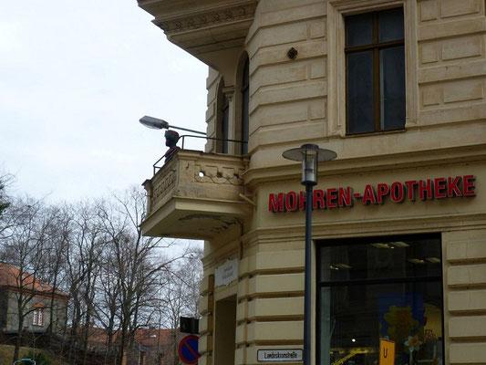 Oberleitungsrosette Landeskronstr. Ecke Lutherplatz
