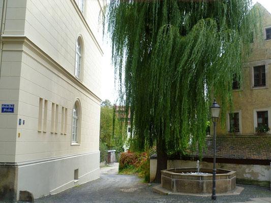Brunnen Bogstr. neben Nikolaischule (dieser Brunnen stand bis 1870 auf dem Demianiplatz, daher die Jahreszahl  der UMsetzung im Beckenrand)