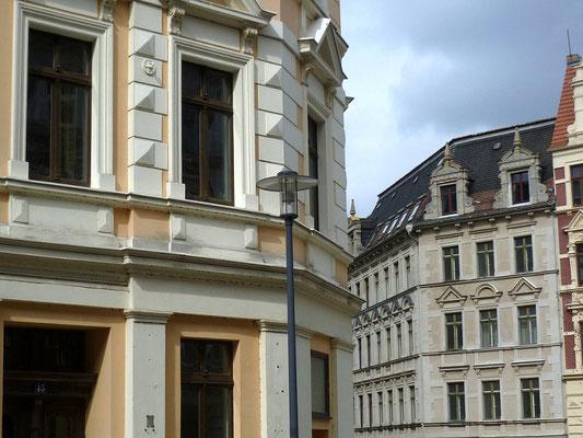 Oberleitungsrosette Landeskronstr. 45 Ecke Leipziger Str.
