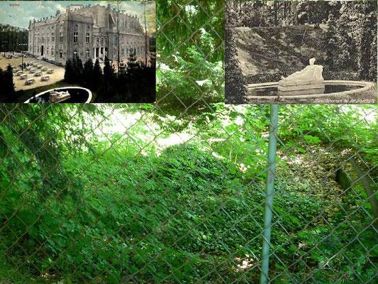 Reste vom Musebrunnen am Eingang zum Stadthallengarten (unbekannt wahrscheinlich vor 1940 verschwunden)