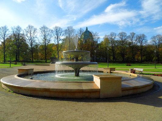 Springbrunnen Plac Jerzego Popiełuszki in Zgorzelec (2014, früher Friedrichplatz)