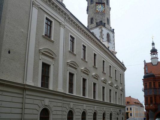 Oberleitungsrosette Brüderstraße am Rathaus