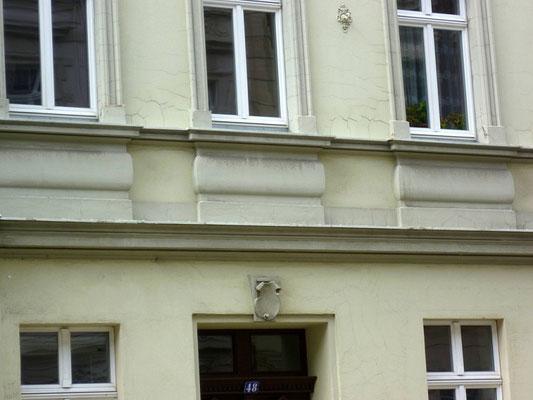 Oberleitungsrosette Landeskronstr. 48