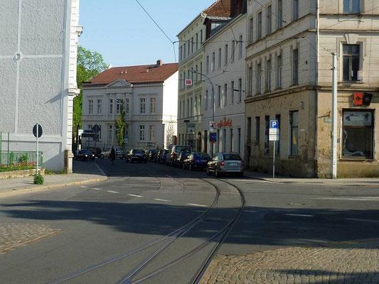 Schienenstück auf der Schützenstraße