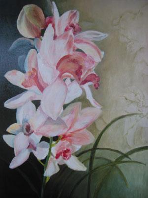 Roze Orchidee; 60x80 cm (linnen)