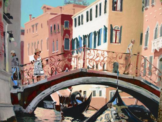 Venetië gondeltocht 4; 50x40 cm (linnen)