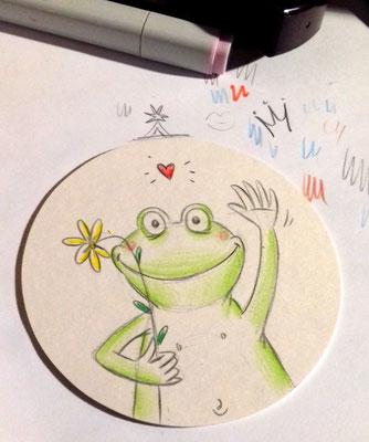 Fröhlicher Frosch