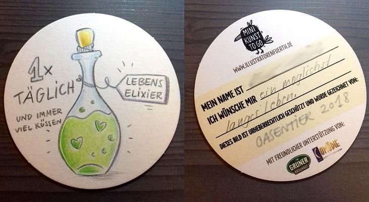Lebenselixier, Fürther Höfefest 2018, Minikunst to Go
