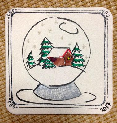 Schneekugel, Minikunst to Go Altstadt Weihnachtsmarkt Fürth 2017