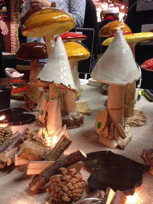 Exposition des céramiques lors du Marché de Noël de Jouy en Josas (2/4)