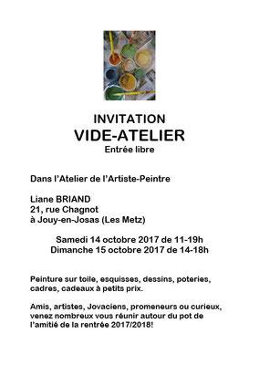 Vide Atelier Octobre 2017