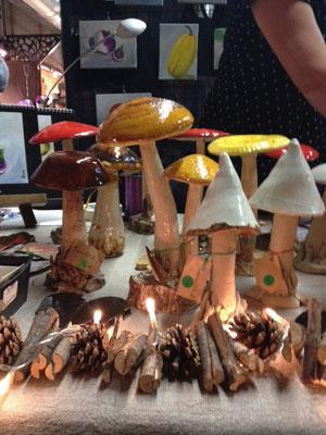 Exposition des céramiques lors du Marché de Noël de Jouy en Josas (1/4)