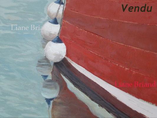 VENDU - Trio de bouées - taille du tableau: 46x38cm