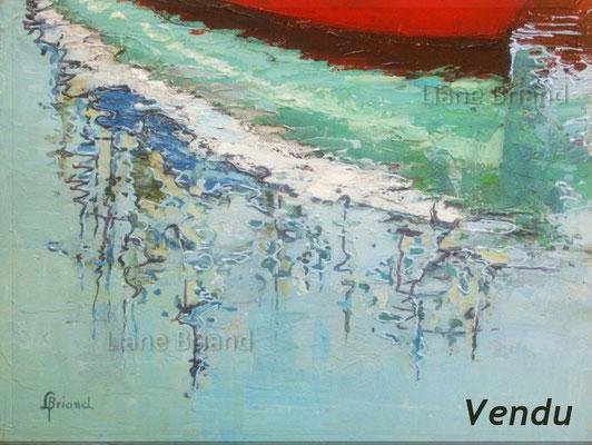 VENDU - Séries reflets n°2 - taille du tableau: 27x34cm
