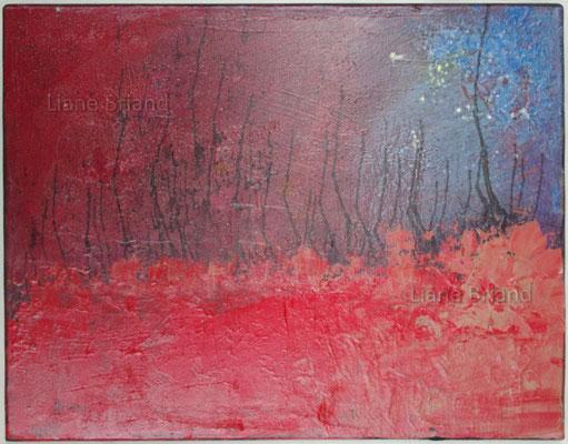 Rouge aurore - taille du tableau: 40x50cm
