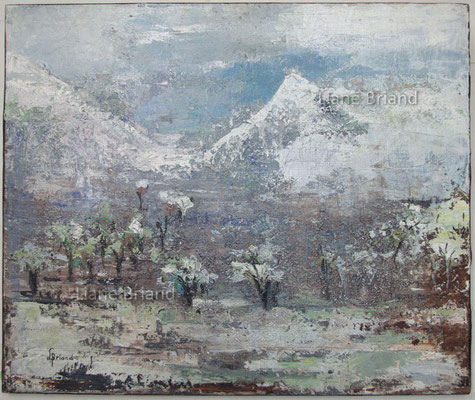 Inspirations des neiges - taille du tableau: 46x65cm