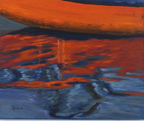 119- Flammes d'eau - 8F (38x46 cm) - Öl