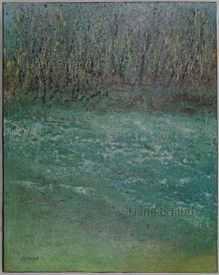Bleu azur - taille du tableau: 50x61cm