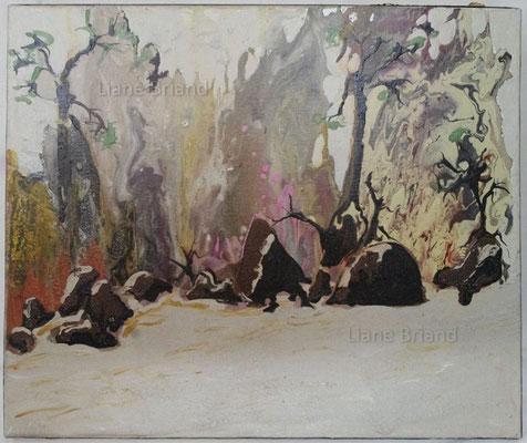 Souvenir de Fontainebleau - taille du tableau: 50x60cm