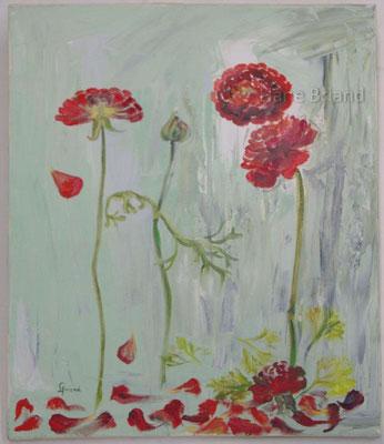 Danse des fleurs - taille du tableau: 46x55cm