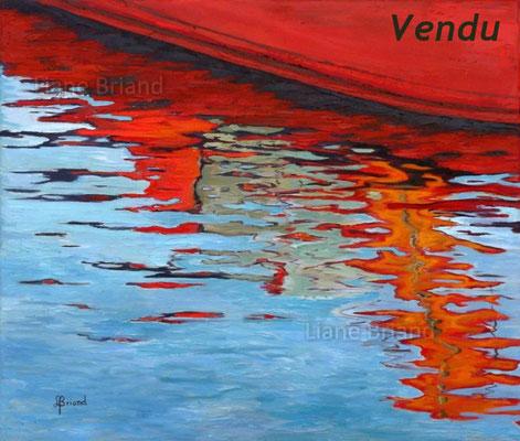 VENDU - Coques rouges - taille du tableau: 65x54cm