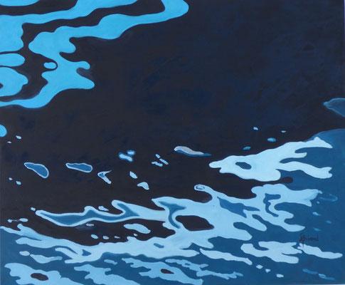 125-Bleu pétrole - 15F (54x65cm) - Öl