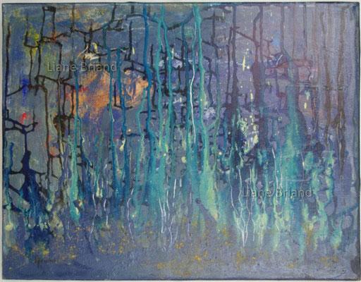 Je rêverais des horizons bleuâtres - taille du tableau: 40x50cm