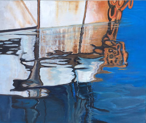 Séries reflets N°135 - Nr21 12F(taille du tableau: 50x61cm) - HUILE/S/TOILE