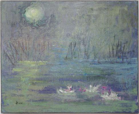 Hommage à Monet - taille du tableau: 46x55cm