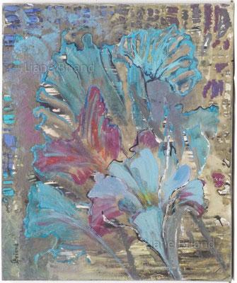 Ludi florales - taille du tableau: 38x46cm