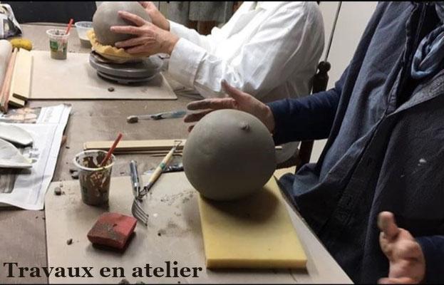 séance atelier céramique