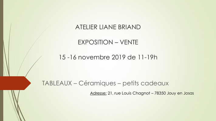Expo-Vente Novembre 2019