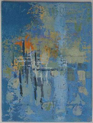 Bleu orange - taille du tableau: 30x40cm