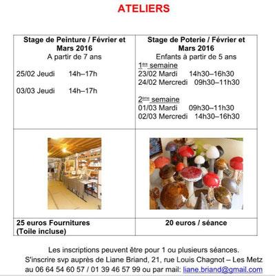 Ateliers Mars 2016