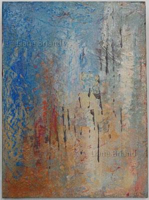 Orange bleu  - taille du tableau: 30x40cm
