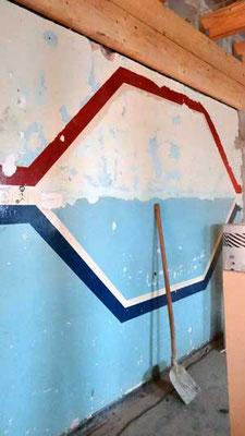 Zustand der Wandbilder vor der Sicherung 3