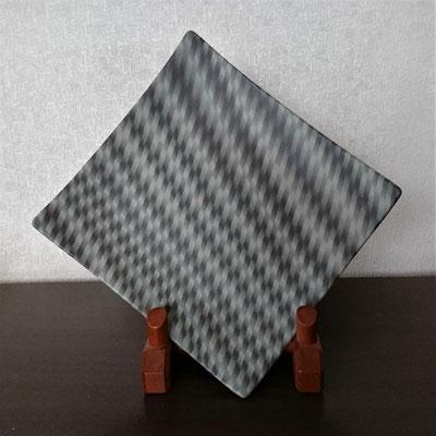 """""""Vertigo""""neriage(marbleized) slab plate 28.4×26.5×5.0(㎝/H) ¥200000"""
