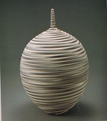"""練上壷""""眩暈""""  Neriage Vase """"Vertigo"""""""