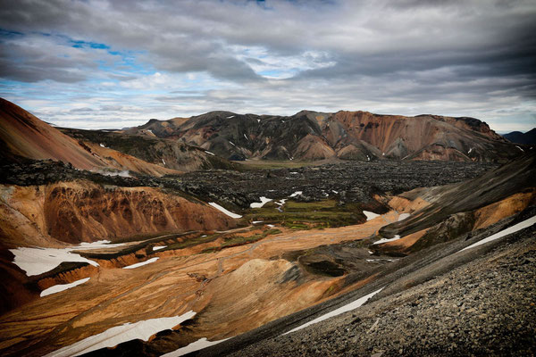 """Landmannalaugar - zum Brennisteinsalda - """"der bunteste Berg"""""""