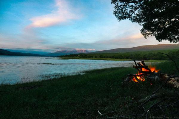 Lagerfeuer am Loch Eil