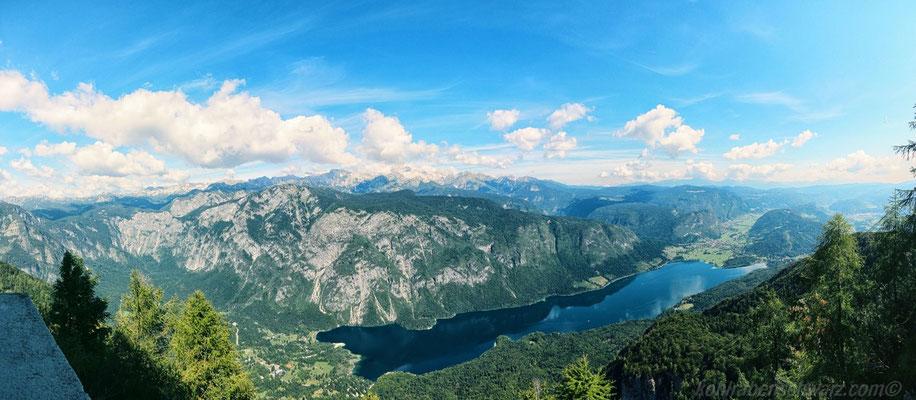 Blick auf den Wocheiner See (Bohinjski Jezero)