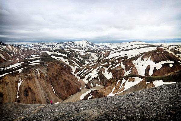 Landmannalaugar - Aufstieg zum Blahnukur