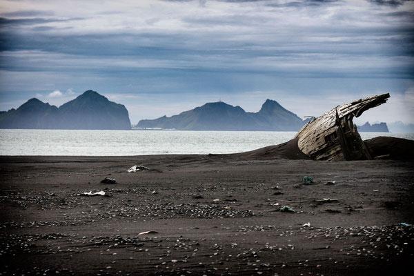 Blick zu den Vestmannaeyjar