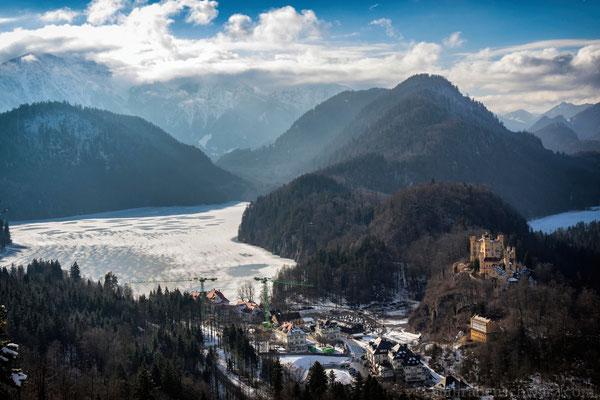 Blick zum Alpsee und Schloss Hohenschwangau