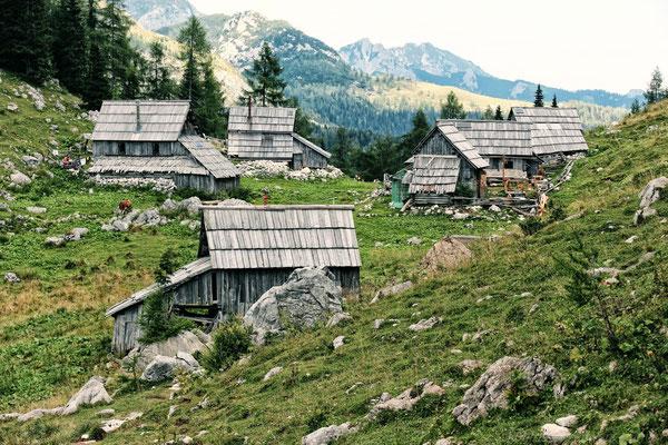 historische Alm in den Julischen Alpen